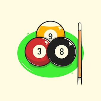 Illustration de boule de billard