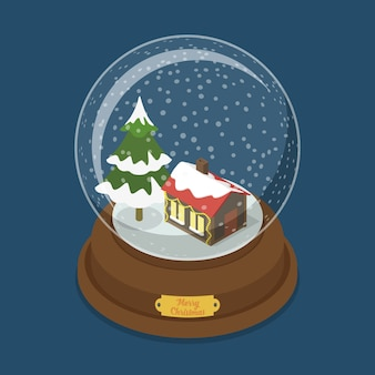Illustration de boule de cristal