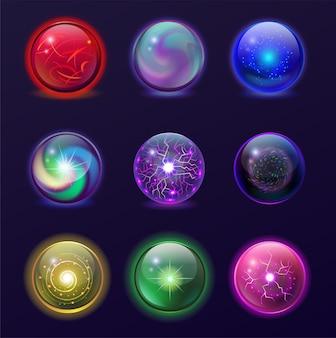Illustration de boules magiques