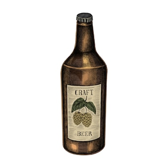 Illustration d'une bouteille de bière artisanale