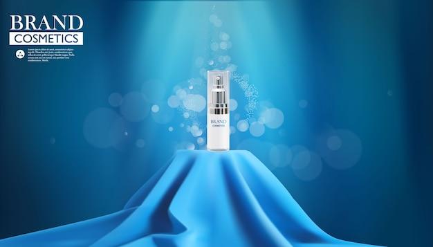 Illustration de bouteille cosmétique de luxe