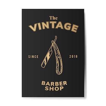 Illustration de boutique de coiffeur vintage