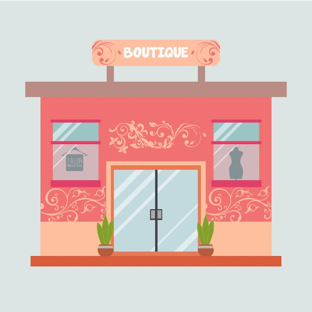 Illustration d'une boutique