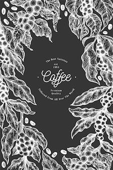 Illustration de branche de caféier.
