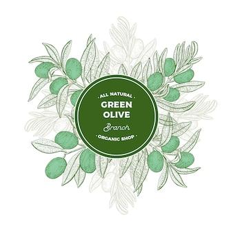 Illustration de branches d'olivier