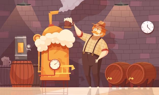 Illustration d'un brasseur de bière