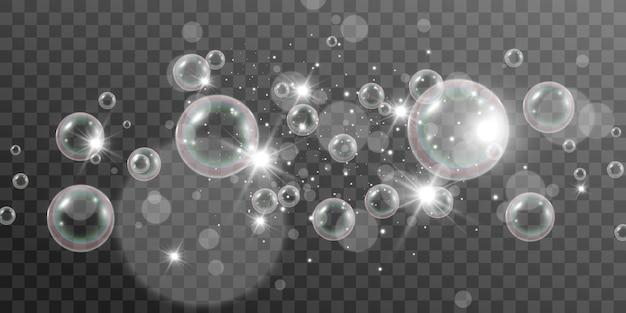 Illustration de bulles de savon d'air d'ampoules