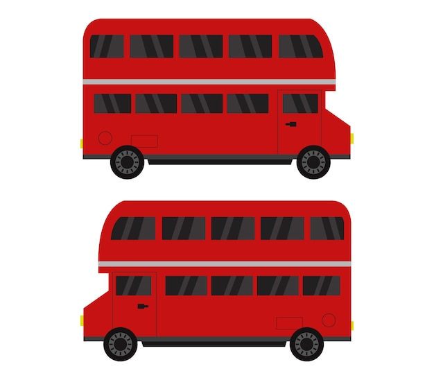 Illustration des bus anglais
