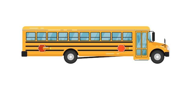 Illustration de bus scolaire jaune isolé