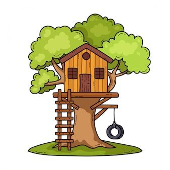 Illustration de la cabane dans les arbres