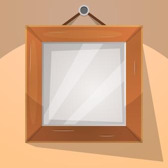 Illustration de cadre bois dessin animé