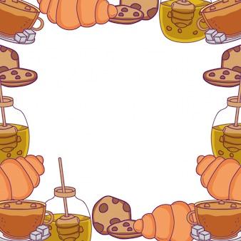 Illustration de cadre de boulangerie isolé