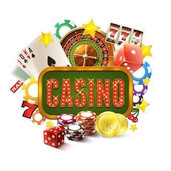 Illustration de cadre de casino