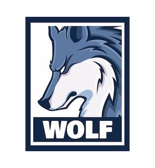Illustration de cadre de conception de loup isolé