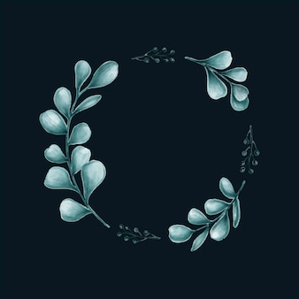 Illustration de cadre de feuilles minimales
