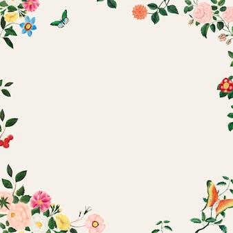 Illustration de cadre floral vintage