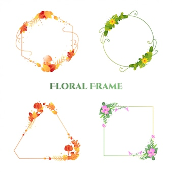 Illustration de cadre floral