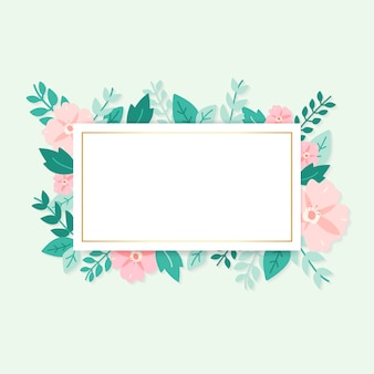 Illustration de cadre mockupl de flore de printemps