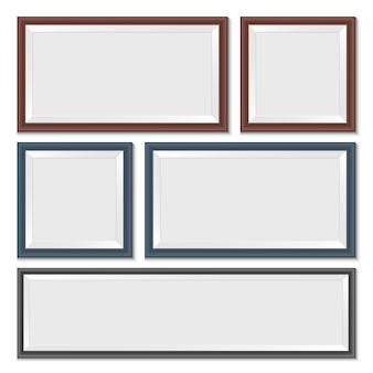 Illustration de cadre photo sur fond blanc