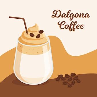 Illustration de café dalgona