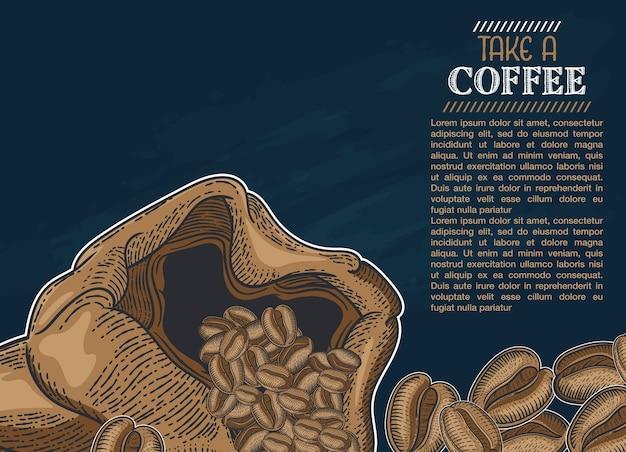 Illustration café dessiné à la main pour vous concevoir
