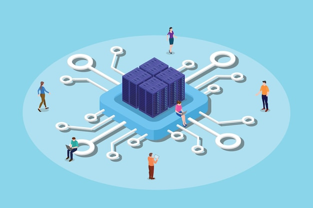 Illustration de calcul ou de traitement des données du processeur