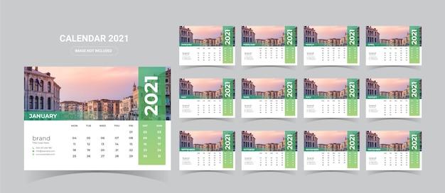 Illustration de calendrier de bureau 2021