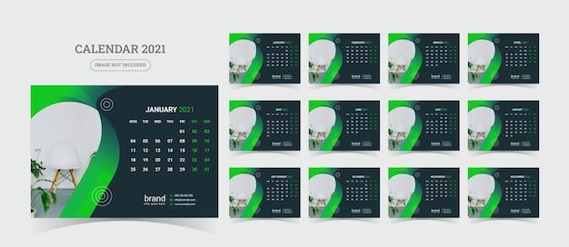 Illustration de calendrier de bureau