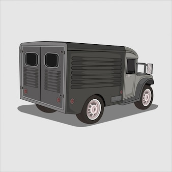 Illustration camion armée