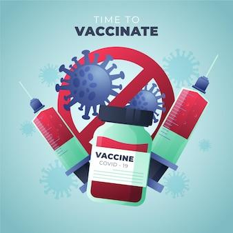 Illustration de la campagne de vaccination en dégradé