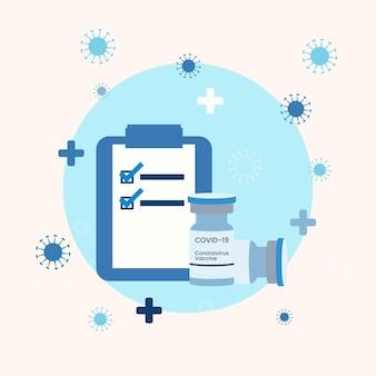 Illustration de campagne de vaccination à plat