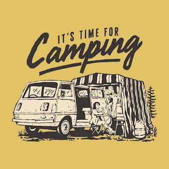 Illustration de camping-car