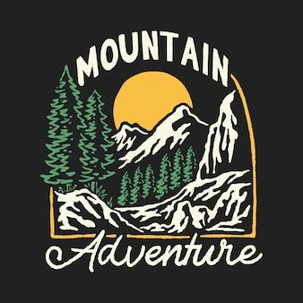 Illustration de camping de montagne