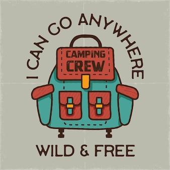 Illustration de camping