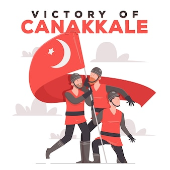 Illustration de canakkale dessinée à la main