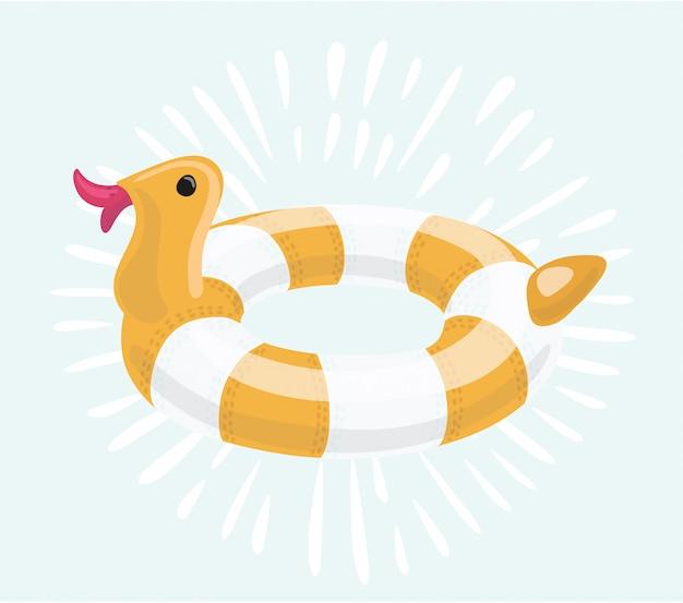 Illustration de canard anneau de bain.