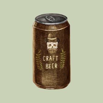 Illustration d'une canette de bière artisanale