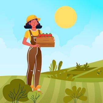 Illustration de caractère d'agriculteur