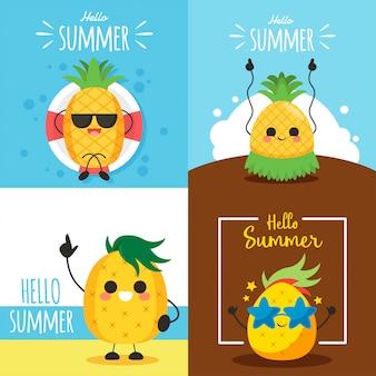 Illustration de caractère d'ananas