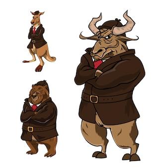 Illustration de caractère détective animal de confiance