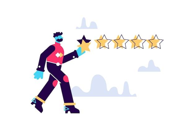 Illustration de caractère étoiles