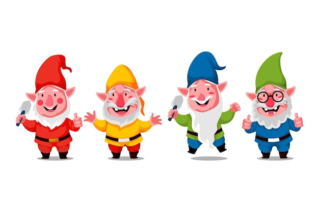 Illustration de caractère mignon gnome