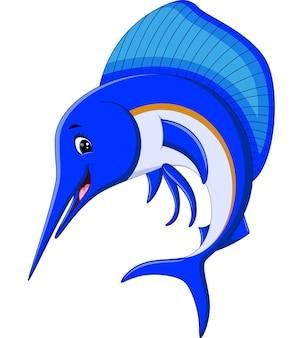 Illustration de caricature de poisson marlin