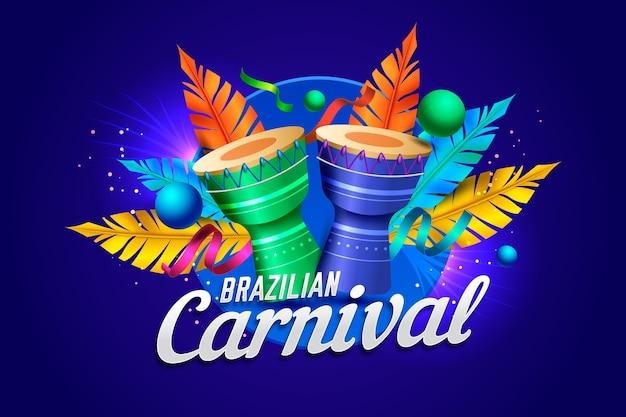 Illustration de carnaval brésilien réaliste