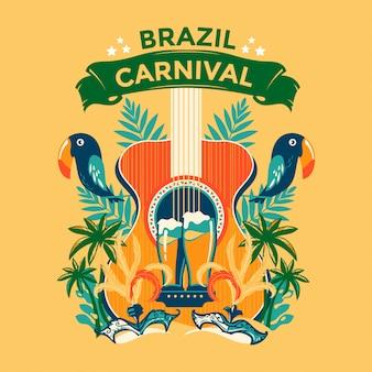 Illustration de carnaval du brésil