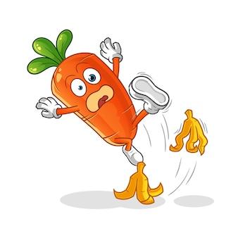 Illustration de carotte de dessin animé