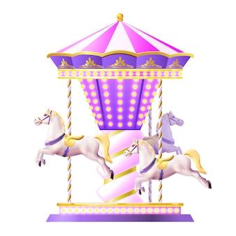 Illustration de carrousel rétro