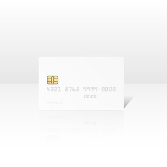 Illustration de carte de crédit blanche isolée
