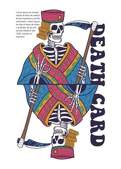 Illustration de carte de décès