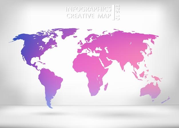 Illustration de la carte du monde.